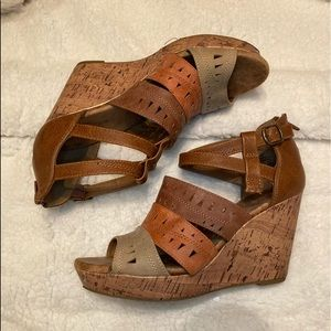 Tan Wedges - Size 10